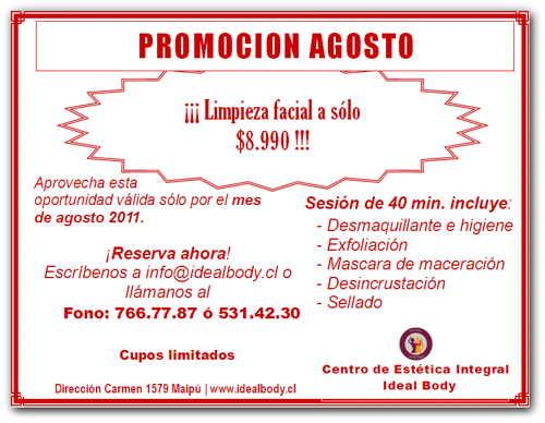 Foto Folleto Promoción Limpieza Facial